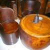 Antik borozó garnitúra pálmafa 4 személyes
