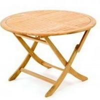 Teak asztal kerek összecsukható 110cm -