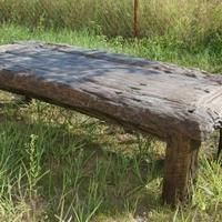 Antik dohányzóasztal teakfa XXL -