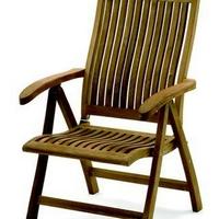 Teak szék luxus kivitel 5 pozíciós háttámlával -