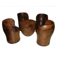Antik borozó garnitúra pálmafa 4 személyes -