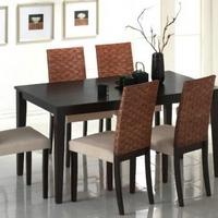 Fa & rattan étkezőgarnitúra ....Caltha.6.székkel.... -
