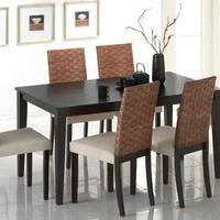 Fa & rattan étkezőgarnitúra ....Caltha.4.székkel.... -
