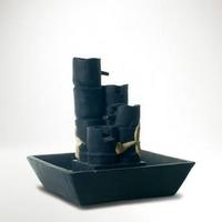 Fekete asztali csobogó bambusz motívummal OUTLET -