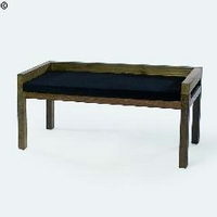 Design pad teakfa párnával 120cm -