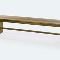 Design pad teakfa párna nélkül 200cm -