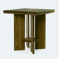 Design bárasztal teakfa 100cm -