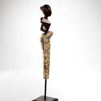 Festett fa szobor 55cm -