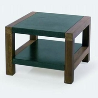 Design dohányzóasztal teakfa-gránit 60cm -