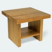 Design dohányzóasztal olajozott akác 60cm -