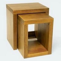 Design asztal olajozott akác 2db-os -