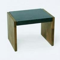 Design virágpad teakfa-gránit -