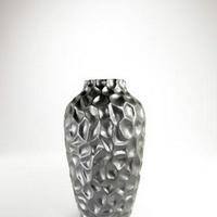 Ezüst színű asztali váza -