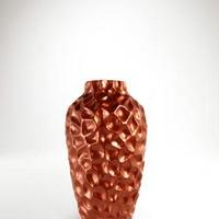 Bronz színű asztali váza -