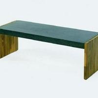 Design virágpad teakfa-gránit 95cm -
