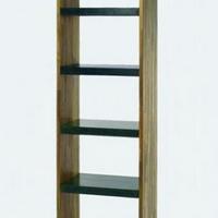 Design könyvespolc teakfa-gránit 2m -