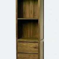 Design könyvszekrény teakfa 3 fiókkal -