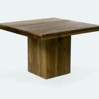 Design étkezőasztal teakfa 120x120cm -