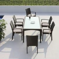 Mississippi 6 személyes étkezőasztal  - Kerti bútor