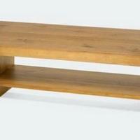 Design dohányzóasztal olajozott akác -