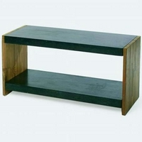 Design konzol asztal teakfa-gránit 95cm -