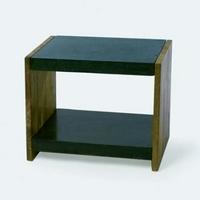 Design konzol asztal teakfa-gránit 55cm -