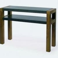 Design konzol asztal teakfa-gránit 135cm -