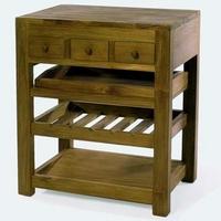 Design konyhai szekrény nagy teakfa -