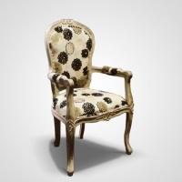 Antik szék virágos -
