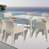 Maldives étkezőgarnitúra 6 személyes (180x90cm+6db fotel) OUTLET -