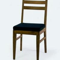 Design étkező szék párnával teakfa -
