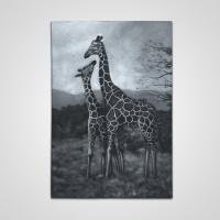 Festmény állatos óriás - Zsiráf -