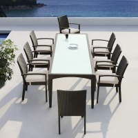 Mississippi étkezőgarnitúra 8 személyes - Kerti bútor