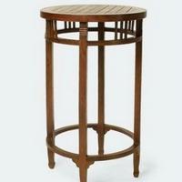 Gyarmat bárasztal sötét és világos teakfa -