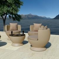 Succisa kávézó szett 4. (2db fotel + 1db asztal) - Kerti bútor