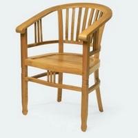 Gyarmat szék Banteng fotel világos teakfa -