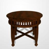 Gyarmat kisasztal 55cm és 65cm sötét és világos teakfa -