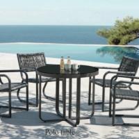Haiti 4 személyes étkezőgarnitúra  - Kerti bútor