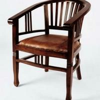 Gyarmat szék Banteng fotel bőrülős sötét teakfa -