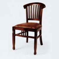 Gyarmat szék Banteng bőrös sötét teakfa -
