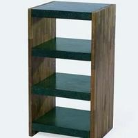 Design könyvespolc teakfa-gránit 85cm -