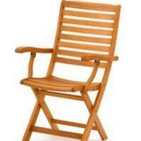 Fehér teak szék natúr vagy teak szín összecsukható karfás -