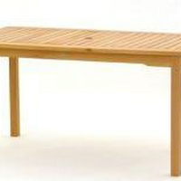 Fehér teak asztal natúr vagy teak szín szögletes 150cm -