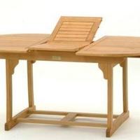 Fehér teak asztal natúr vagy teak szin ovális kihúzható 140-180cm -