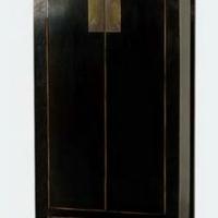 Kínai antik szekrény fiókkal fekete és vörösbarna -