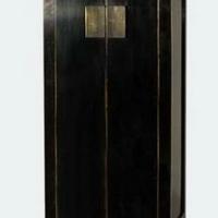 Kínai antik szerény fekete és vörösbarna -