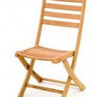 Teak összecsukható szék karfa nélkül -