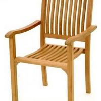 Teak szék egymásba rakható -