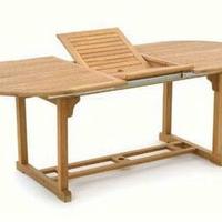 Teak asztal ovál kihúzható 170-220cm -