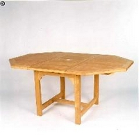 Teakfa asztal nyolcszög kinyitható 4-6 szemyélyes 120-170cm -